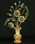 Букет цветов из камня - Янтарная хохлома