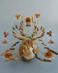 Букет цветов из камня - Жар-птица