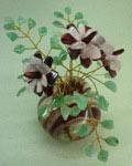 Букет цветов из камня - Бордовое вдохновение